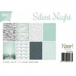 Joy!Crafts Papierset A4 3x4 Blatt doppelseitig Silent Night