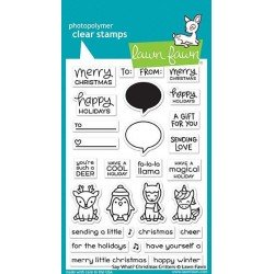 Lawn Fawn Say What? Christmas Critters Clear Stamps