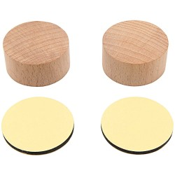 Holzstempelblock, rund mit Aufkleber