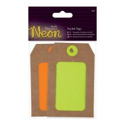 Einsteck-Anhänger (4Stk) - Neon - Gelb & Orange