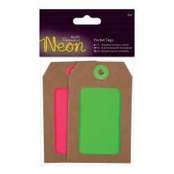 Einsteck-Anhänger (4Stk) - Neon - Pink & Grün