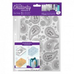 A5 Silikonstempel Set - 1 Stk - Paisley Background