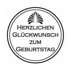 """Unique Hobbyproducts - Stempel """"Herzlichen Glückwunsch zum Geburtstag"""" - 29,5 mm"""