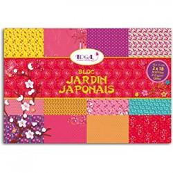 Block 11x16 Jardin Japonais Glitter- 36 Blätter