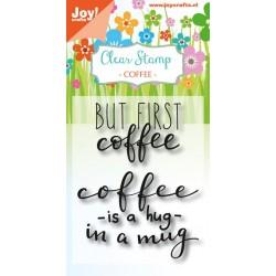 Joy!Crafts Clear Stempel Coffee Txt - Enjoy