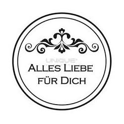 "Unique Hobby Stempel Text ""Alles Liebe für Dich"" - 29,5 mm"