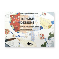 Postcard Colouring Books - Turkish Designs