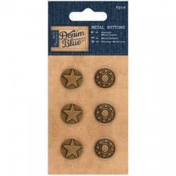 Papermania Denim Blue - Metal Buttons