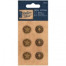 Papermania Denim Blue - Metal Buttons