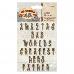 Papermania Mr. Smiths Workshop - Letter Charms (34pcs)