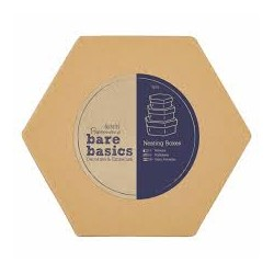 Schachtel-Set Ineinander Verschachtelbar - Bare Basics - Hexagon (S/M/L)