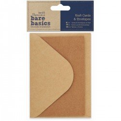 Bare Basics Kraft 3 Cards & 3 Envelopes