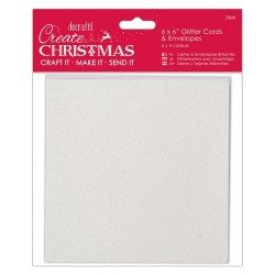 "6x6"" Glitter Cards & Envelopes (12pk)"
