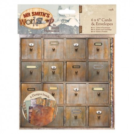 "6x6"" Cards & Envelopes (12pk) - Mr. Smiths Workshop"