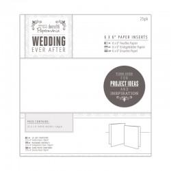 "6x6"" Paper Card Inserts - white (25pcs)"