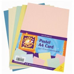 Craft Planet Assorted Pastel A4 Card