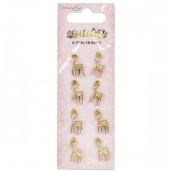Folkland Stag Charms 8 pcs