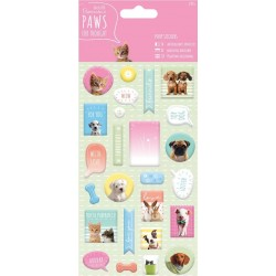 Paws for thought - Puffy Stickers 25 pcs