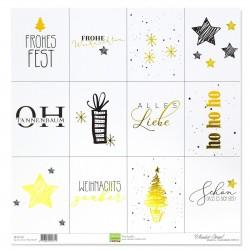 Vaessen Creative • Papier Tags Weihnachtswünschen