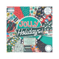 First Edition Paper Pad Jolly Holidays 6 x 6""