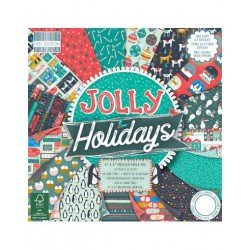 """First Edition Paper Pad Jolly Holidays 6 x 6"""""""