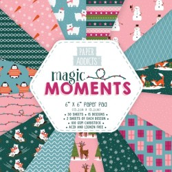 Paper Addicts - Christmas Magic Moments - 6 x 6 Paper Pad