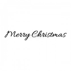 "Unique Hobby Stempel Text ""Merry Christmas"" - 67 mm x 11 mm"